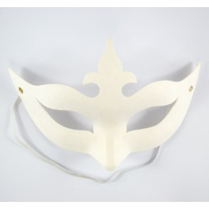 Mask White 13X19cm Crown