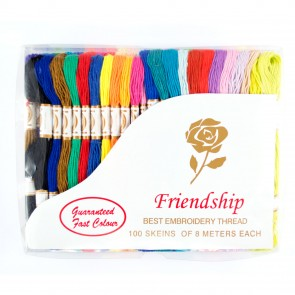 Embroidery Thread (8 Metres) Assorted (100 Pieces)