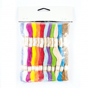 Embroidery Thread (8 Metres) Assorted (24 Pieces)