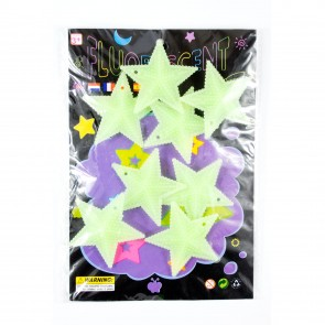 Glow In The Dark Shapes Textured Stars