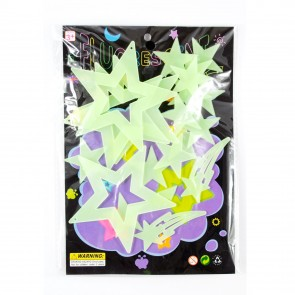 Glow In The Dark Shapes Stars/Shooting Star