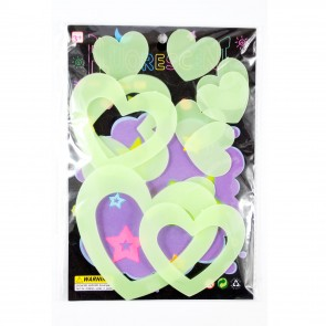 Glow In The Dark Shapes Hearts