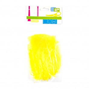 Turkey Feather (20 Pack) Yellow