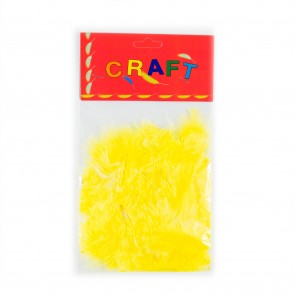 Hen Feather (50 Pack) Yellow