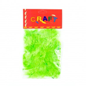 Hen Feather (50 Pack) Green