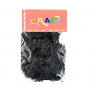 Hen Feather (50 Pack) Black