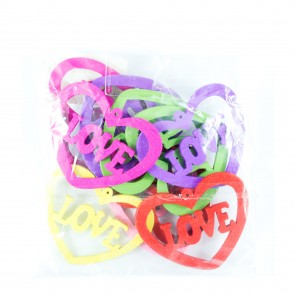 Laser Cut Wood Shape (10 Pack) Assorted Love