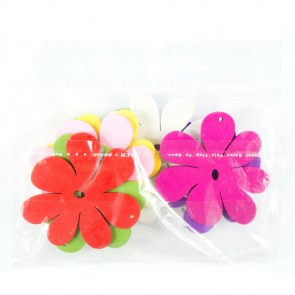 Laser Cut Wood Shape (10 Pack) Assorted Flower