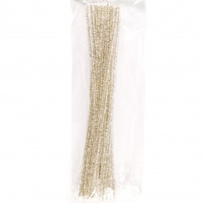 Pipe Cleaner Tinsel (30 Pack) White