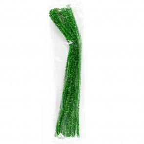 Pipe Cleaner Tinsel (30 Pack) Green