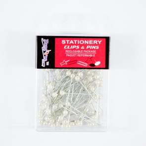 Pearl Head Pins 37mm 100Pk White