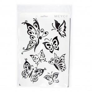Stencil 21X31cm 7 Butterflies
