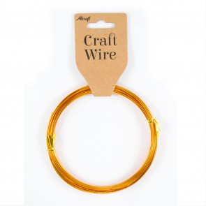 Craft Wire Aluminium 1mm Gold (10 Metres)