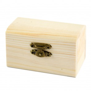 Wood Box Treasure Chest 8.7 x 5.5 x 5cm