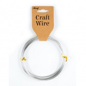 Craft Wire Aluminium 1mm Silver (10 Metres)