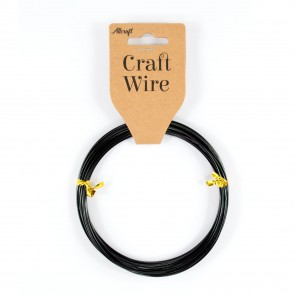 Craft Wire Aluminium 1.5mm Black (6 Metres)