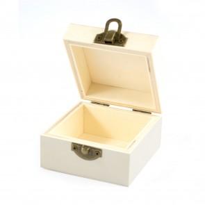 Wood Box Square 8 x 8 x 5cm