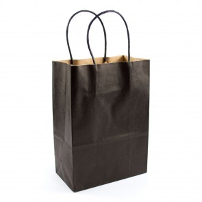 Paper Gift Bag 21X27cm Black