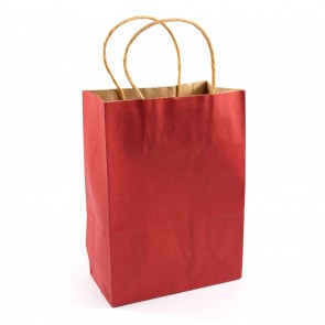 Paper Gift Bag 21X27cm Red