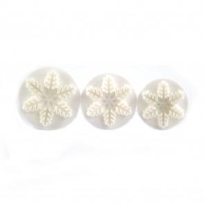 Fondant Plunger Cutter Snowflake (3 Pieces)