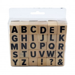 Rubber Stamp Set Alphabet 2cm (30 Pieces)
