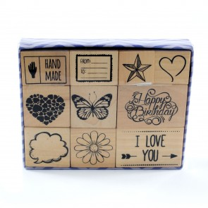 Rubber Stamp Set Classics (10 Pieces)