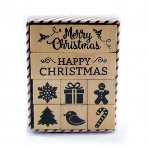 Rubber Stamp Set Christmas (8 Pieces)