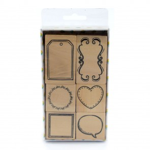 Rubber Stamp Set Frames (6 Pieces)