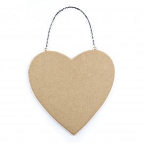 Wood Sign Heart 18.5 x 17.5 x 0.5cm