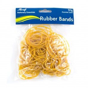 Rubber Bands 50g Assorted Sizes