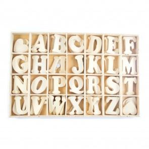Wood Adhesive Letter Set 3.5cm (84 Pieces)