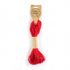 Jute Cord 30m Red
