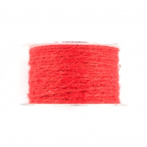 Jute Cord 50m Red