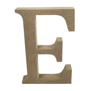 Wood Letter 11cm Natural E