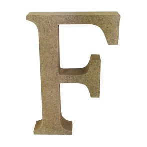 Wood Letter 11cm Natural F