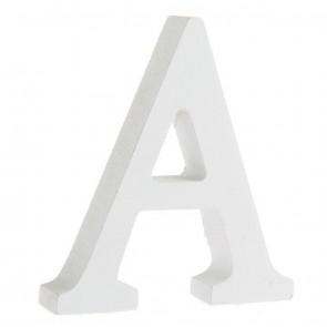 Wood Letter 11cm White A
