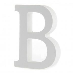 Wood Letter 11cm White B