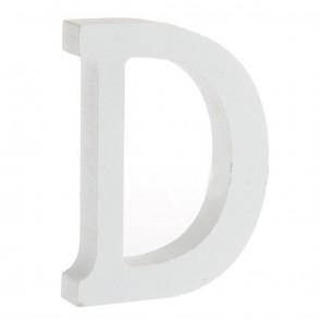 Wood Letter 11cm White D