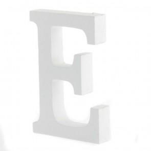 Wood Letter 11cm White E