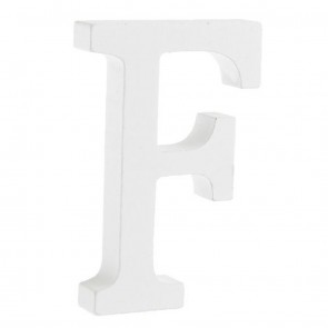 Wood Letter 11cm White F