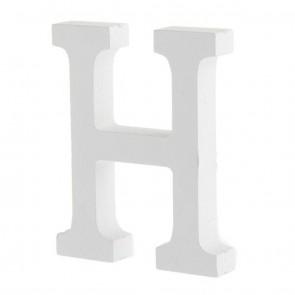 Wood Letter 11cm White H