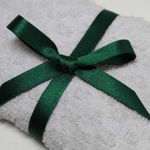 Double Face Satin Ribbon 10mm Forest Green (5 Metres)