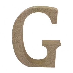 Wood Letter 11cm Natural G