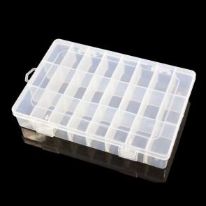 Plastic Storage Box 33.5 x 17.5 x 4.5cm (24 Compartment)