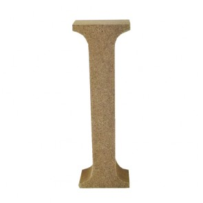 Wood Letter 11cm Natural I