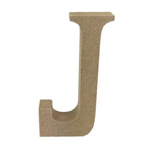 Wood Letter 11cm Natural J