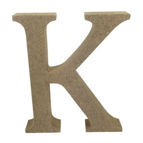Wood Letter 11cm Natural K