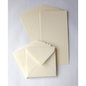 "6x6"" Cards & Envelopes Ivory (50 Pack)"