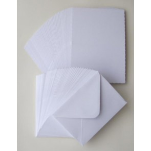 "5x7"" Cards & Envelopes 300gsm White (40 Pack)"