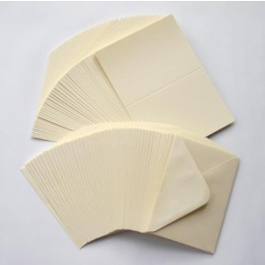 C6 Cards & Envelopes Ivory (50 Pack)